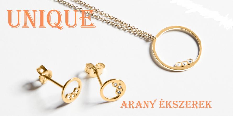 Unique arany-ezüst ékszerek